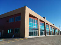 New 4,500 sf Shell small bays for lease in Airdrie with exposure