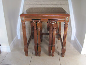 Side Table With Two Hidden Tables