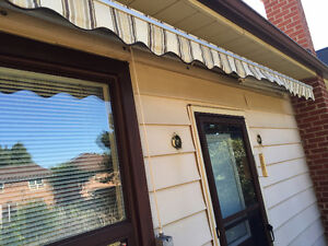 Electric Powered Awning 15 Feet Wide Used Rectangular Patio