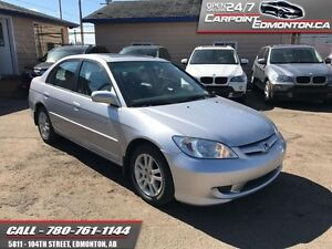 2005 Honda Civic Sdn LX-G INCREDIBLE WITH ONLY 109520 KMS!!!  FW