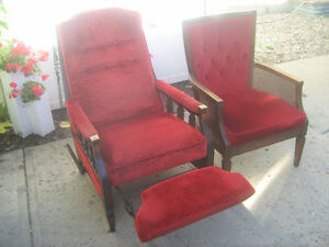 Red Recliner and CHair