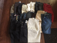 21 pairs of ladies pants size 2-4 $15 for the lot