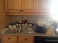 Glasses, plates and things to give away - pick up only