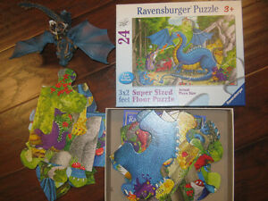 Schleich Dragon toy with man, and Ravensburger dragon puzzel St. John's Newfoundland image 1
