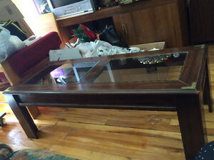 Real wood and coffee table