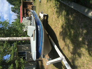 16ft boat, 25hp motor, and trailer package