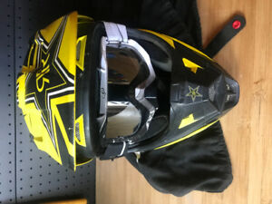 Dirt biking helmets fox