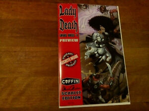 1of 75! LADY DEATH CHAOS RULES#1 PREVIEW SCARLET EDITION!!