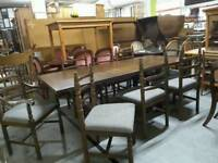 SPECIAL OFFER!! Dining Table & 8 Chairs - Can Deliver For £19