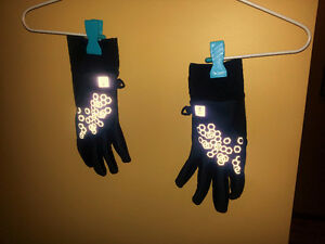 MEC Running Gloves with Reflective patterns and touch Screen