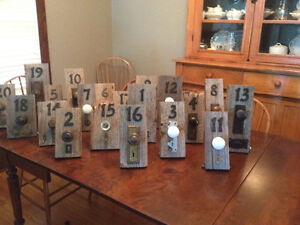 Barn Board wedding table numbers Stratford Kitchener Area image 1
