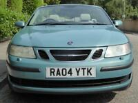 SAAB 9-3 1.8t 2004 LINEAR CONVERTIBLE..89,000 MILES...MOT MARCH 2019