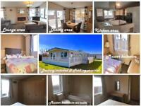 Beautiful lodge with decking & parking space for sale on the Norfolk coast