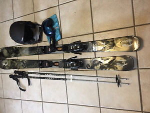 Brand new skis, poles,helmet and goggles