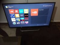 Sony smart tv 60 inch with built wifi, passive 3D
