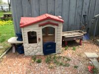 Little Tykes play house and sandbox