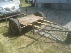 Utility trailer shell, 15 inch wheels