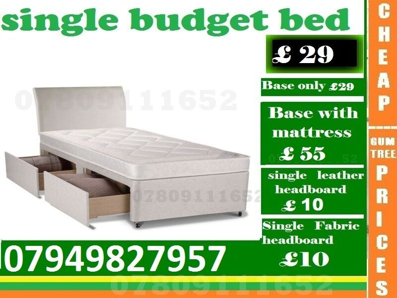 Single Size budget Base availableBeddingin Romford, LondonGumtree - ESPECIAL EASTER SALE.~.~.Available at Half of the Orignal Price.~.~. We Deal in all sizes of Divan ,Leather Beds.~.~.Other Furnitures sofabeds, wardrobe, sofa available also.~.~.Brand New Delivery Same day Contact Us