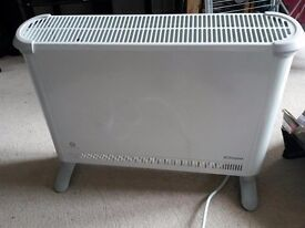 Dimplex 2kW electric heater . Thermostat with frost setting. Freestanding and wallmountable.