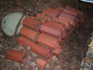 Clay drainage tiles