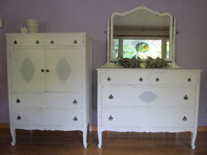 Two matching antique dressers 1920
