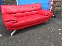 Lovely two seaters leather sofa