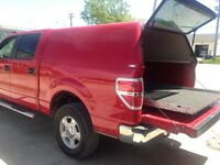 RED SHORT BOX TRUCK CAP 2012 F150 CREW