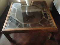 Antique coffee table and corner table
