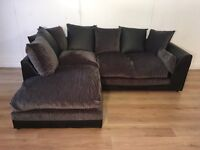 Gray DFS corner sofa with free delivery within London