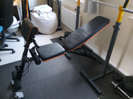 PERLECARE Weight Bench Adjustable, All-in-One Durable Gym Bench