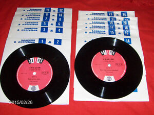 SET OF 12 ATLAS LEARNING RECORDS-ENGLISH-24 LESSONS-33 1/3 RPM