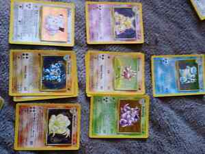 Old 1999 pokemon cards most in absolute mint condition