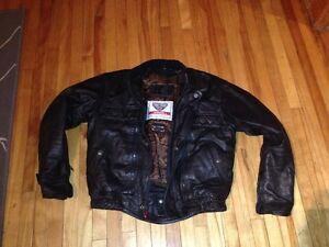 Manteau de cuir FirstGear comme neuf