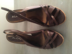 Size 10 Brown Aldo Shoes with 3 inch Heel