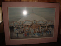 John Newby Twighlight Magic Carousel Print Ltd Ed Signed