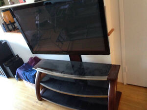 "50"" Panasonic TV with Whalen stand"