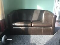 Small leather sofa
