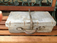 Antique wooden carrying case