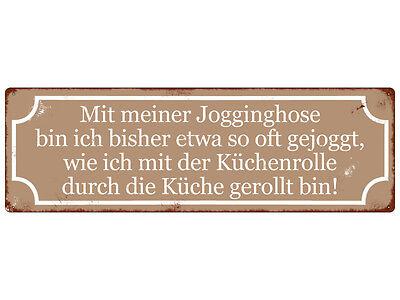 Terrasse Hose (METALLSCHILD Retro Blechschild MIT MEINER JOGGINGHOSE Dekoschild Spruchschild)