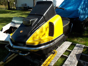 Large number of vintage Ski-Doo,s