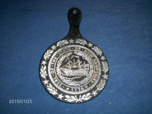 SOUVENIR HOTPLATE-STATE OF NEW HAMPSHIRE SEAL-COLONIAL