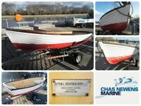 OUTHILL Large Open Mock Clinker GRP Fibre Glass Row Boat Tender Dinghy.