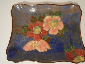 VINTAGE ROYAL DOULTON WILD ROSE RECTANGULAR DISH C.1940S