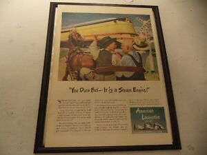 OLD CLASSIC  TRAIN ADS