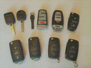 Volkswagen / VW / Audi Keys , Remote Fobs, Cutting & Programming