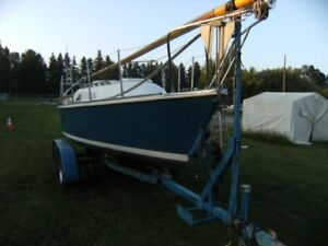 SAIL BOAT AND TANDEM TRAILER