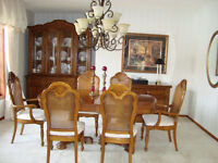 REDUCED  $1700.00 FOR THOMASVILLE  PECAN DINING ROOM SUITE