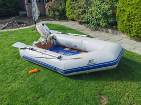 Plastimo P240L inflatable dinghy tender with outboard