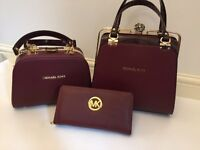 New MK MICHAEL KORS 3pcs Handbag and Purse GIFT SET!