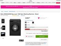 Becko black 8kg washing machine